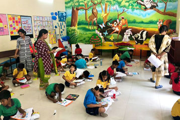 best school kompally Hyderabad Drawing & Colouring Competitions day 4