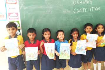 best school kompally Hyderabad Drawing & Colouring Competitions day 5