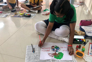 best school kompally Hyderabad Drawing & Colouring Competitions day 6