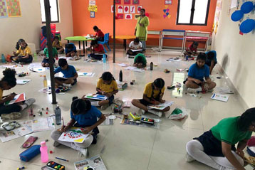 best school kompally Hyderabad Drawing & Colouring Competitions day 7