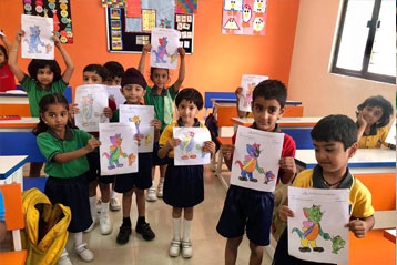 best school kompally Hyderabad Drawing & Colouring Competitions day 9