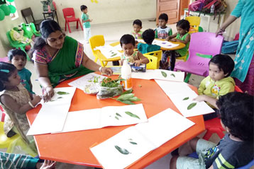best school kompally Hyderabad green colour day celebration 2