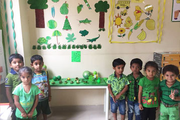 best school kompally Hyderabad green colour day celebration 4
