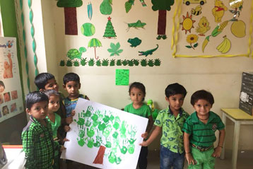 best school kompally Hyderabad green colour day celebration 5