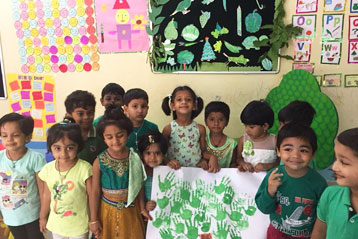 best school kompally Hyderabad green colour day celebration 6
