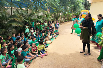 best school kompally Hyderabad green colour day celebration 7