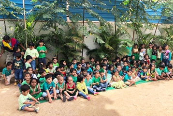 best school kompally Hyderabad green colour day celebration 8