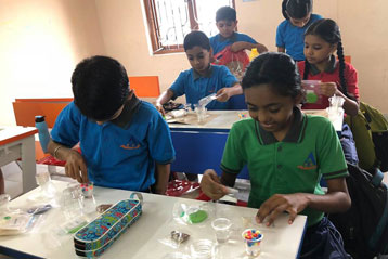 best school kompally Hyderabad EVS activity on Materials and Solution day 3