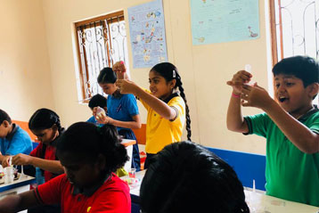 best school kompally Hyderabad EVS activity on Materials and Solution day 4