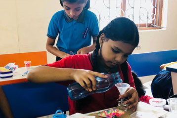 best school kompally Hyderabad EVS activity on Materials and Solution day 5