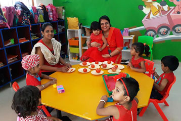 best school kompally Hyderabad Red Colour day 10