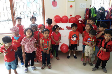 best school kompally Hyderabad Red Colour day 11