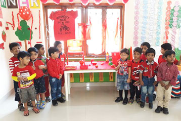 best school kompally Hyderabad Red Colour day 4