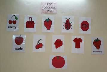 best school kompally Hyderabad Red Colour day 6