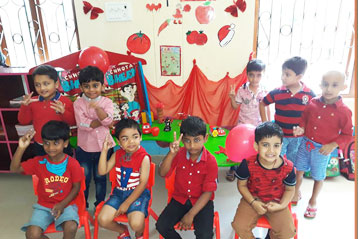 best school kompally Hyderabad Red Colour day 8