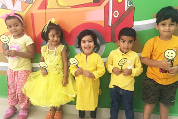 best school kompally Hyderabad yellow Colour day 6