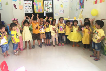 best school kompally Hyderabad yellow Colour day 7