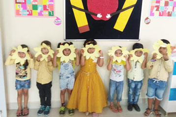 best school kompally Hyderabad yellow Colour day 8