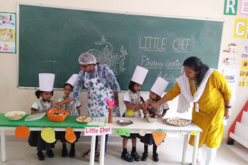 Learning cooking in school 7